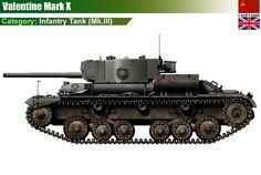 British Infantry Tank Mk.III Valentine Mk.X