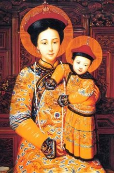 Chinese Madonna from the North Church, former Jesuit Cathedral, Beijing: