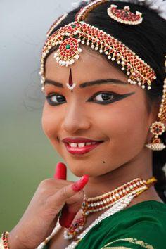 Indian bharathanatyam dance