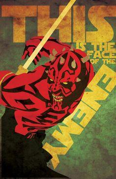 This is the Face of the Enemy (Star Wars illustrations - propaganda style | By: Patty McPancakes, via GeekTyrant (#starwars #darthmaul)