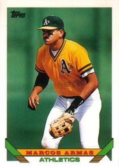 Marcos Armas Oakland Athletics, Mlb, Athlete, Baseball Cards, Sports, Frames, Hs Sports, Sport