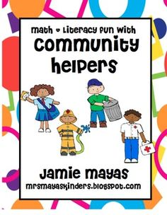 Are you in need of some fun math and literacy activities for community helpers week