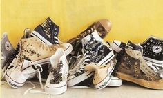 Converse by Free people. I wanna make these! Studded Converse, Cool Style, My Style, Stella Mccartney Elyse, Shoe Game, Diy Crafts, Style Inspiration, Fashion Outfits, Stylish