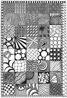 All sizes | Zentangle Sampler | Flickr - Photo Sharing!   More patterns.