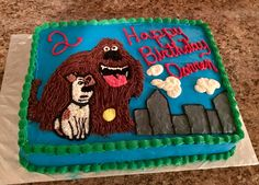 Secret Life of Pets birthday cake
