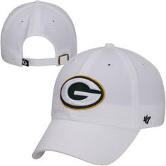 Green Bay Packers '47 Brand Cleanup Adjustable Hat – White