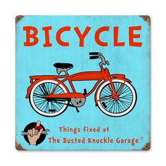 Retro Kids Bicycle Metal Sign