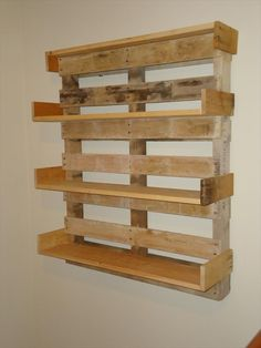Making shelves out of pallets shelves made from pallets floating storage a how to make shelves . making shelves out of pallets Wooden Pallet Shelves, Pallet Crates, Old Pallets, Recycled Pallets, Wooden Pallets, Pallet Bookshelves, Pallet Wood, Recycled Wood, Pallet Benches
