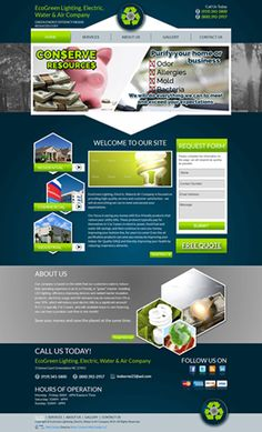 Go green with EcoGreen Lighting, Electric, Water & Air Company!  To view their complete list of products, visit their website today- http://www.eglew.com/. This website is professionally created by Silver Connect Web Design, LLC!