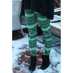 Stylish Elastic Waist Skinny Colored Printed Women's Leggings, GREEN, ONE SIZE(FIT SIZE XS TO M) in Leggings | DressLily.com
