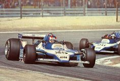 1979 Spanish GP, Jarama : The winner Patrick Depailler (Ligier JS11) followed by his teammate Jacques Laffite. (ph: ekladata.com)