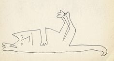 Saul Steinberg – Cat by laura@popdesign, via Flickr