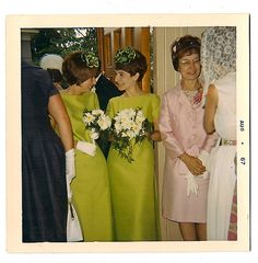 Minnie and Inez immediately after spiking the bride's drink with Draino.  They never liked her anyway...