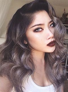 grey-hair-color-trend | Check out 2015's Hair Color Trends! From babylights and platinum blonde to marsala and caramel browns - get your latest hair color ideas and hair color formulas here! http://www.jexshop.com/