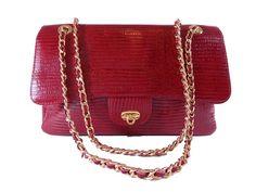 Genuine Leather bag / Bolsa tipo Chanel em Couro Legítimo