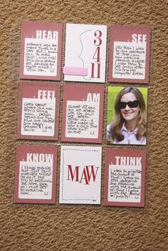 all about me- cute idea for a class book...send home a baseball card pocket page protector for each student and have them decorate with favorites and pictures. Combine.