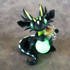 Glow in the Dark Poison Dragon by DragonsAndBeasties on Etsy
