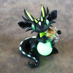 Glow in the Dark Poison Dragon by DragonsAndBeasties on Etsy