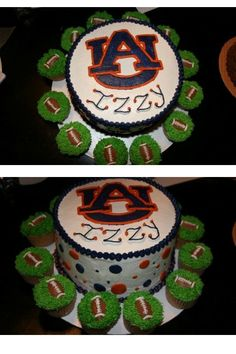 Auburn cake.  Love this with the football cupcakes-BUT ya'll know it would have to be ALABAMA.