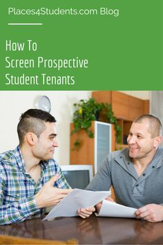 Searching for that perfect tenant? We've put together some pointers on how to screen prospective student tenants. #blog