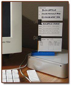 Free printable walleter-five minute organizer station