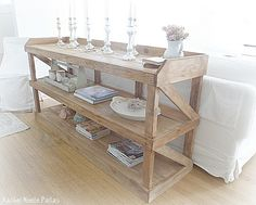 Rachel Ashwell console copy.  This blog post gives name of person who can build one for you.