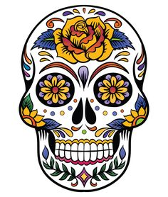 Giant Cutout Sugar Skulls. I want different colors,. but in FULL color...