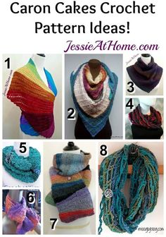 Caron Cakes Crochet Pattern Ideas from Jessie At Home: