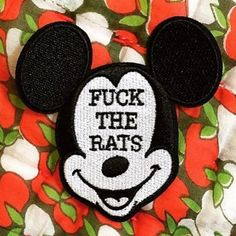 @thefuneralclub have only ten of these patches left get one now not coming back. Link is in their bio.  #thefuneralclub #patchgame #mouse #rats #rato #mickmouse #embroideredpatch #patches