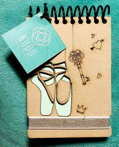 Ballet Shoes Ballerina Gift Dance Recital Gift mini notebook