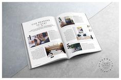 MILESTONE Magazine by Paperwhite Studio on @creativemarket
