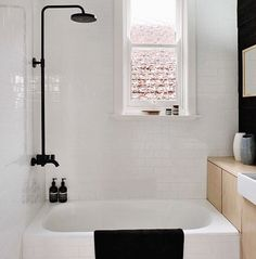 This bathroom is divine! The black tapware in the shower really makes this all white bathroom unique. We'd love to rinse off after a long day's work in there!   Get the look at www.meir.com.au  Photo from @Remodelista  ‪#‎meiraustralia‬ ‪#‎meirtapware‬ ‪#‎meir‬ ‪#‎blacktapware‬ ‪#‎homebeautiful‬ ‪#‎bathroom‬ ‪#‎blacktaps‬ ‪#‎homerenovation‬ ‪#‎homestyling‬ ‪#‎homedecor‬ ‪#‎interiordesign‬ ‪#‎interiorstyling‬ ‪#‎monochrome‬ ‪#‎black‬ ‪#‎blackandwhite‬ ‪#‎hbmystyle‬ ‪#‎onlinenow‬…