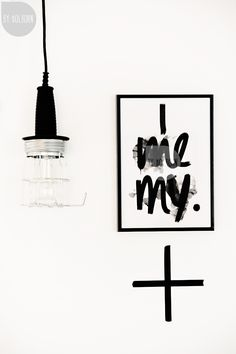 black and white light