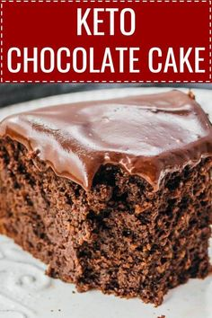 A keto chocolate cake made with coconut flour, and topped with a dark ganache frosting. It's a low carb dessert that's sugar free and gluten free. Low Carb Sweets, Low Carb Desserts, Low Carb Recipes, Coconut Flour Recipes Low Carb, Healthy Recipes, Keto Cake, Keto Cupcakes, Keto Cheesecake, Ketogenic Cake Recipe