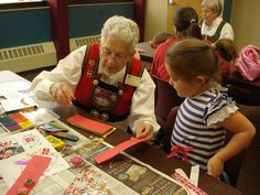 The Sons of Norway hosted a special event at the Downtown library on Saturday in honor of Children's Book Week. Story telling, crafts, dancing and painting were part of the program.