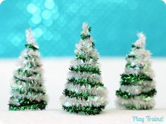 DIY Pipe Cleaner Trees Christmas Craft   Play Trains GuRfw7eP