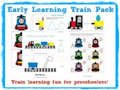 Early Learning Train Pack for preschoolers