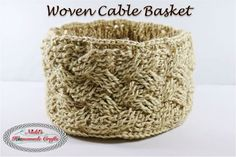 I need of a beautiful and fast made crochet basket? Get this free pattern plus detailed photos and a video to help you make this woven cable basket.