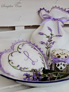 Lavender Sachets with Hand Embroidery . Lavender Cottage, Lavender Green, Lavender Bags, French Lavender, Lavender Sachets, Lavender Fields, Lavender Flowers, Purple Flowers, Lavender Crafts