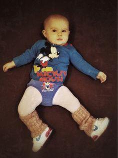 Allegra Gym Time! Jumper Disney; Pants Disney; shoes Nike Air Max; hoiseries Grain de Blè
