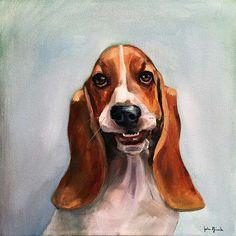 The Stig - Basset Hound Oil on Canvas www.juliepfirsch.com School Portraits, Pet Portraits, Bassett Hound, Positive Images, Dog Art, Dog Breeds, Oil On Canvas, Pets, Drawings