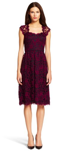 Sweetheart Fit and Flare Dress - Adrianna Papell
