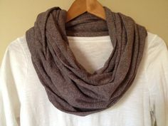 Nursing Cover, Infinity Scarf, vintage brown