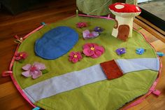 felt fairy land (you could totally make a dinosaur play area or anything else your little boy was into as well!)