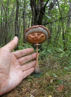 clay mushroom lady