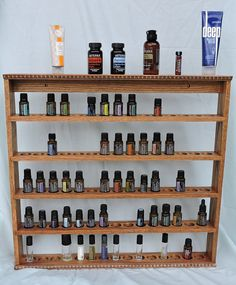 Essential Oil Display Shelf, Wood Essential Oil Storage, Holds 75 bottles
