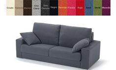 Sofá cama dos plazas con colchón de 140cm X 200cm varios colores
