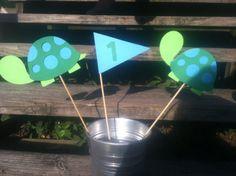Turtle Birthday Centerpiece/Turtle Birthday Decorations