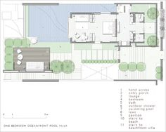 scda show villa Villa Plan, Detail Architecture, Architecture Plan, Modern House Plans, House Floor Plans, Villa Design, House Design, Scda Architects, Large Floor Plans