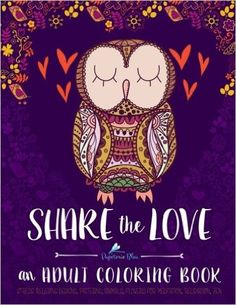 Share The Love Adult Coloring Book Papeteriebleu